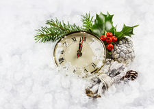 New year hours in the snow Stock Photography