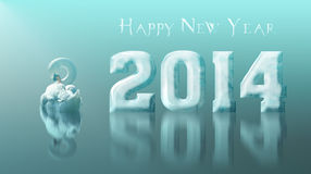 2014 new year on ice Royalty Free Stock Photography