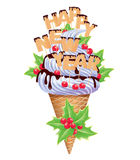 New year ice creams Royalty Free Stock Image