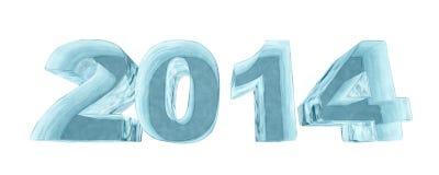 New 2014 year ice figures Stock Photo