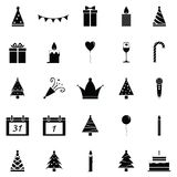 New year icon set. The new year of icon set Royalty Free Stock Images