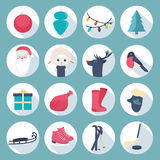 New Year icon set Royalty Free Stock Photography