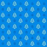 New Year icon set seamless snow tree pattern. New Year icons vector flat background. New Year icon set seamless snow tree pattern Stock Images