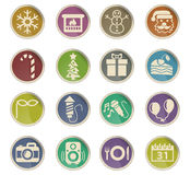 New year icon set Stock Photography