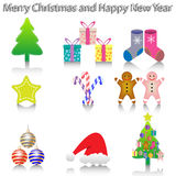 New Year Icons. Illustration of New Year icons on a white background royalty free illustration