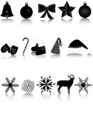 New Year icons Royalty Free Stock Photo