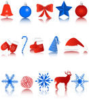 New Year icons Royalty Free Stock Photography