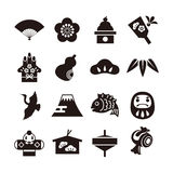 New Year icons Royalty Free Stock Photos