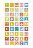 New Year icons stock illustration