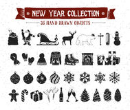Free New Year Icons Set. Stock Images - 91789314