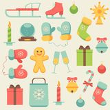 New Year icons set Stock Photo