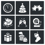 New year icons set Royalty Free Stock Image