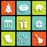 New Year icons Royalty Free Stock Image