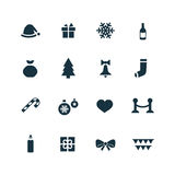 New year icons set Stock Photography