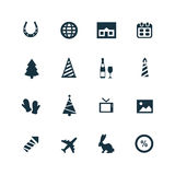 New year icons set Royalty Free Stock Photography