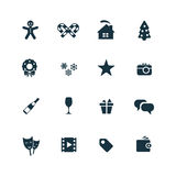 New year icons set Royalty Free Stock Photos