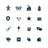 New year icons set Royalty Free Stock Photos