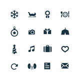 New year icons set Stock Image