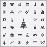 New year icons universal set. For web and mobile Royalty Free Stock Images