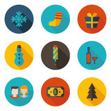 New year icons in vector format. New year flat icons in vector format Stock Image