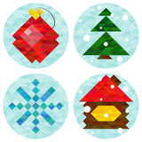 New year of 2015 icons. Royalty Free Stock Image