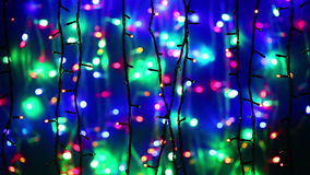 New Year illumination garland decoration blinking Royalty Free Stock Photo