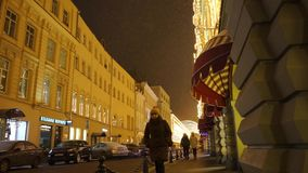 New year illuminations on the building stock video footage