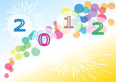 New Year illustration. Colorful New Year 2012 illustration Royalty Free Stock Image