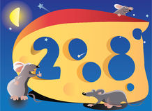 New year illustration. 2008 is year of Rat Stock Image