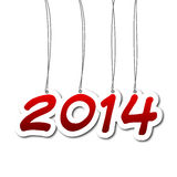 New year 2014. New year illustration - background with numbers written 2014 Stock Photos