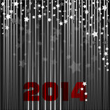 New year 2014. New year illustration - background with numbers written  2014 Royalty Free Stock Photos