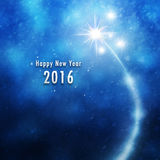 2016 New Year illustration background with snowflakes. New Year 2016 illustration background with fireworks and snowflakes background royalty free illustration