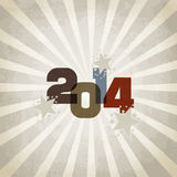 New year 2014. New year illustration - background with vintage written in 2014 royalty free illustration