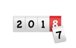 New 2018 year. Illustration of new 2018 year calendar Stock Photo