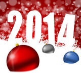 New year 2014 illustration Stock Photo