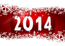 New year 2014 illustration Stock Image