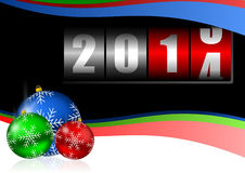 New year 2014 illustration. With christmas balls vector illustration