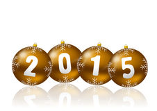 2015 new year illustration. With christmas balls Royalty Free Stock Image