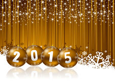 2015 new year illustration Royalty Free Stock Photos