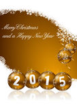 2015 new year illustration Royalty Free Stock Photo