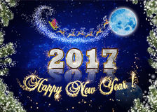 NEW YEAR 2017. Illustration for Christmas and New years celebration 2017 Stock Image