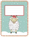 New Year  illustration with cute sheep Royalty Free Stock Photo