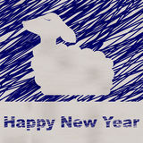 New Year illustration. Merry Christmas greeting card. Sheep. Illustration. Happy New Year greeting card vector illustration