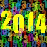 2014 new year illustration. With numbers Stock Photos