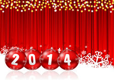 2014 new year. Illustration with snowflakes Royalty Free Stock Image