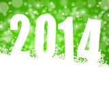 2014 new year. Illustration with snowflakes Stock Image