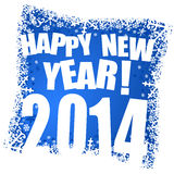2014 new year. Illustration with snowflakes Royalty Free Stock Images