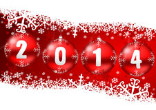 2014 new year. Illustration with snowflakes Royalty Free Stock Photos