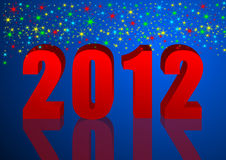 New year illustration with stars. Blue new year illustration with stars Royalty Free Stock Photos