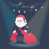 New Year illustration of a Super Hero Santa Royalty Free Stock Photography